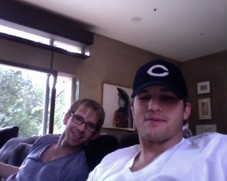 ashton kutcher twin photo. Ashton Kutcher is the reigning