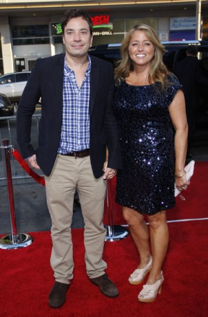 jimmy fallon wife. Jimmy Fallon and wife,