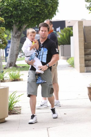 Mark Wahlberg and son