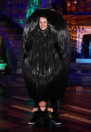 Ellen Degeneres as Snooki from Jersey Shore for Halloween