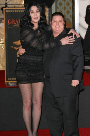 Cher and Chaz at Grauman's Chinese Theater