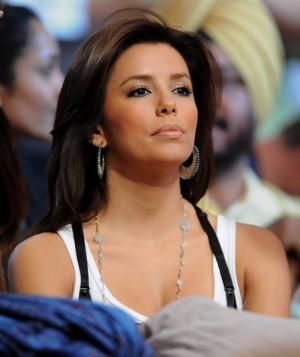 Eva Longoria at LA Lakers home game