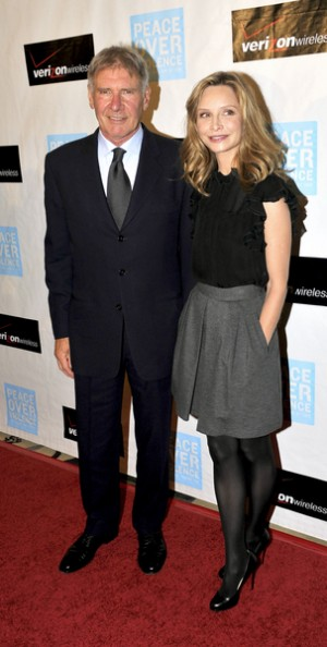 Harrison Ford and Calista Flockhart at Peace Over Violence Awards Dinner