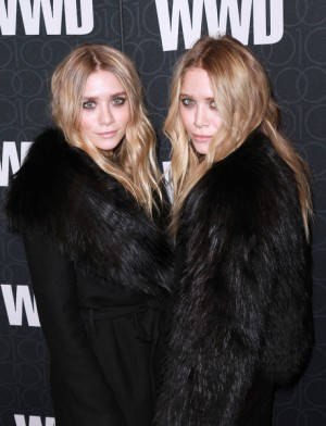 Mary Kate and Ashley Olsen at WWD 100th Anniversary party in NYC