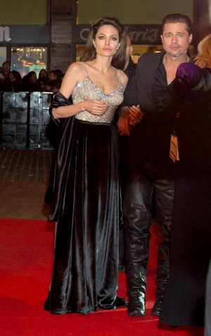 Brad Pitt and Angelina Jolie at The Tourist premiere in Madrid