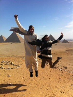 Ashton Kutcher and Demi Moore in Egypt