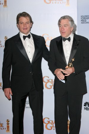 Matt Damon presents Robert Deniro with Award at Golden Globes