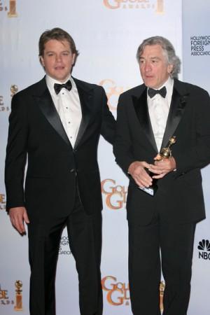 Matt Damon presents Robert Deniro with Award at Golden Globes