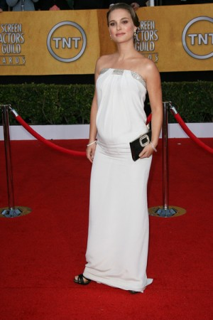 Natalie Portman and Baby Bump at SAG Awards
