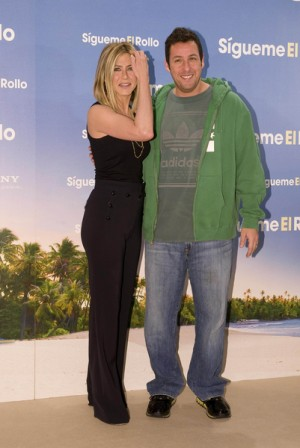 Jennifer Anniston and Adam Sandler in Madrid for Just Go with It