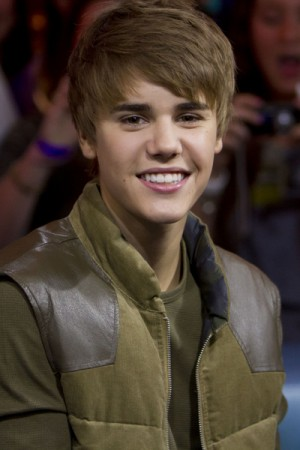 Justin Bieber visits New Music Live in Toronto, Canada