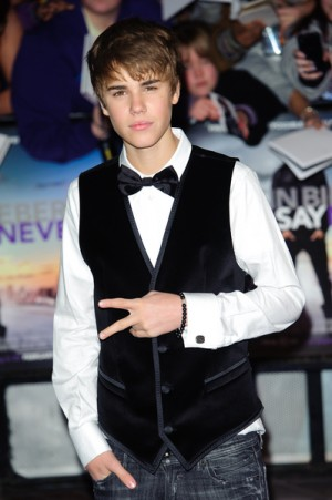 Justin Bieber at Never Say Never premiere in London