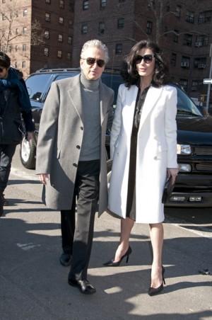 Michael Douglas and Catherine Zeta Jones Mercedes Fashion Week NYC