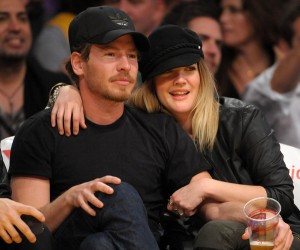 Drew Barrymore at LA Lakers game