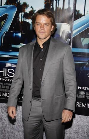 "Matt Damon at ""His Way"" Los Angeles premiere"