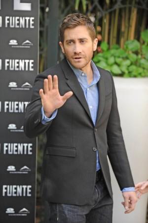 Jake Gyllenhaal in Madrid for Source Code