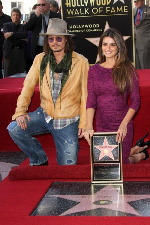 Penelope Cruz gets a star on the Hollywood Walk of Fame with good friend Johnny Depp