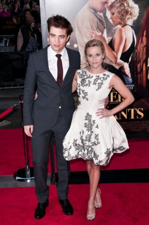 "Reese Witherspoon and Robert Pattinson at NYC Premiere, ""Water for Elephants"""