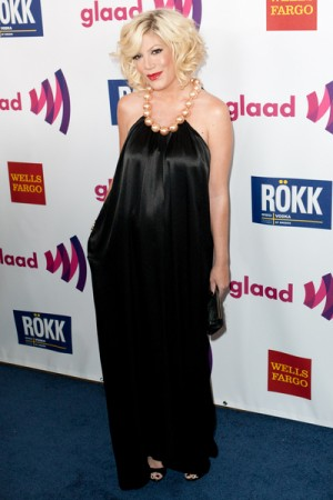 Tori Spelling at the GLAAD Awards in Los Angeles