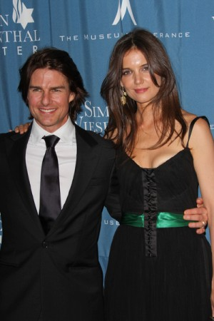 Tom Cruise and Katie Holmes attend 2011 Humantarian Award dinner tribute