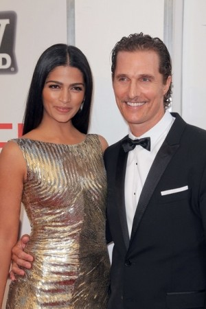 Matthew McConaughey and Camila Alves Honoring Morgan Freeman