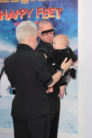 Pink Takes Family to LA Premiere