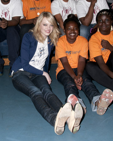 Emma Stone's Day of Charity Work