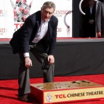 Robert DeNiro Gives His Handprint