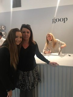 Gwyneth Paltrow at her Goop Gift store.